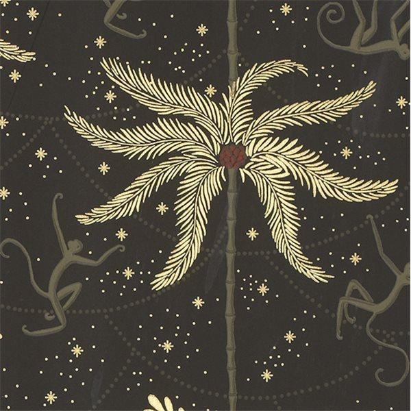 Papier peint noir motifs singes mauritz au fil des couleurs - Papier peint humour ...