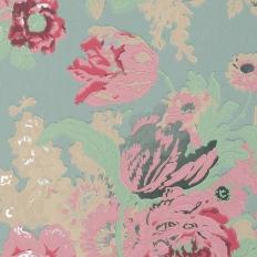 Papier peint - Anna French - Bouquet - Turquoise