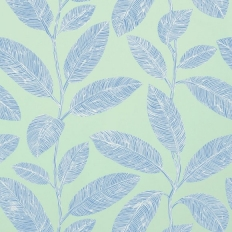 Papier peint - Thibaut - Komodo Leaves - Aqua and Blue