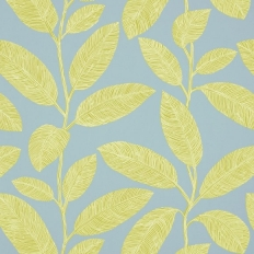 Papier peint - Thibaut - Komodo Leaves - Green and Blue