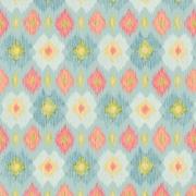 Papier peint - Thibaut - Bimini Ikat - Blue and Orange