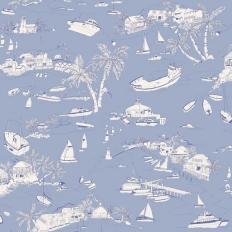 Papier peint - Thibaut - Bahamas - Blue