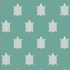 Papier peint - Thibaut - Turtle Bay - Turquoise