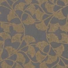 Papier peint - Thibaut - Ginkgo - Slate Blue