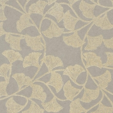 Papier peint - Thibaut - Ginkgo - Silver