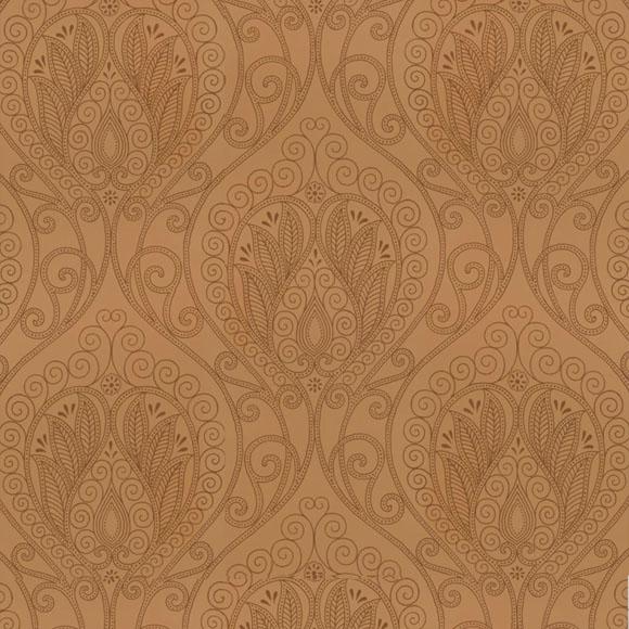 papier peint oriental taupe rio thibaut au fil des couleurs. Black Bedroom Furniture Sets. Home Design Ideas
