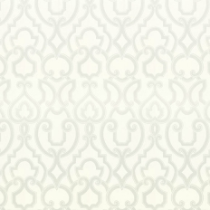 Papier peint - Thibaut - Royal - Pearl on White