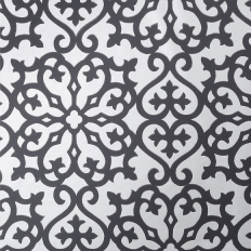 Papier peint - Thibaut - Allison - Black on Metallic Silver
