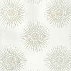 Papier peint - Thibaut - Bahia - Pearl on White