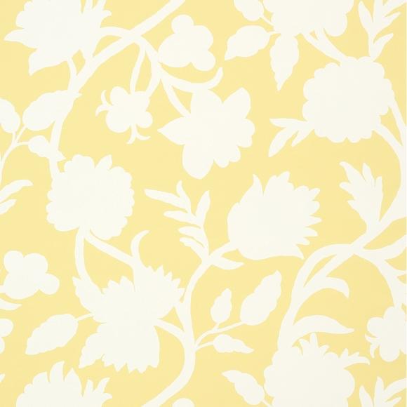 papier peint jaune motif fleuri cabrera thibaut au fil. Black Bedroom Furniture Sets. Home Design Ideas