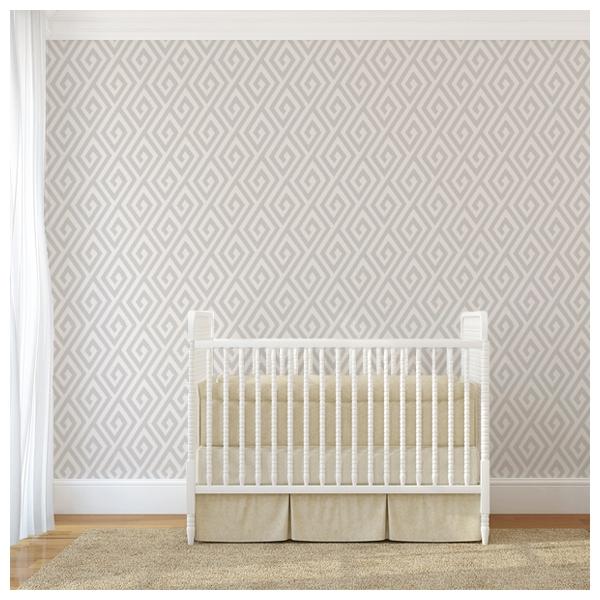 papier peint argent et blanc labyrinthe dedalo thibaut. Black Bedroom Furniture Sets. Home Design Ideas