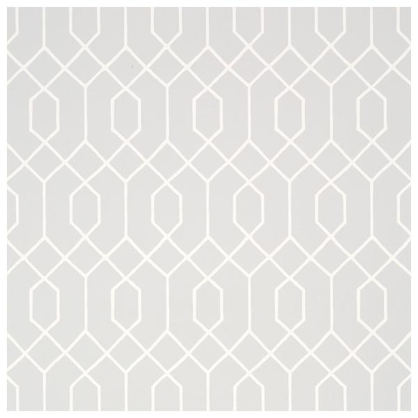 Papier peint la farge motifs de vitraux en gris et blanc - Papier peint graphique ...