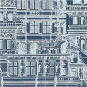 Papier peint - Thibaut - Palazzo - Navy