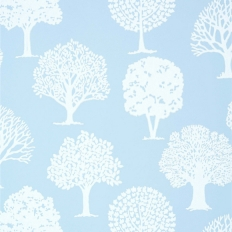 Papier peint - Thibaut - Russell Square - Blue