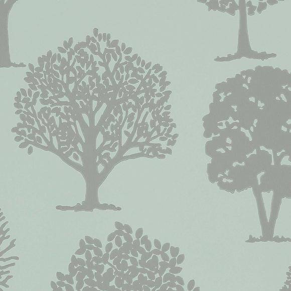 papier peint vert motif d arbres russell square thibaut. Black Bedroom Furniture Sets. Home Design Ideas