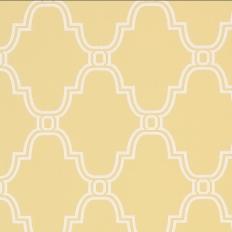 Papier peint - Thibaut - Stanbury Trellis - Yellow