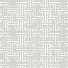 Papier peint - Thibaut - Taza - Metallic Silver on Grey