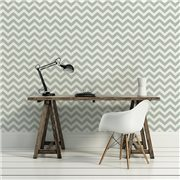 Papier peint - Thibaut - Widenor Chevron - Charcoal