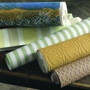 Papier peint - Au fil des Couleurs - AFDC Radnor Stripe - Jaune / Vert