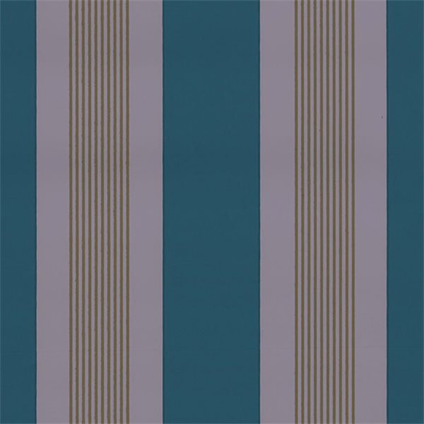 papier peint larges rayures bleu afdc radnor stripe au fil des couleurs au fil des couleurs. Black Bedroom Furniture Sets. Home Design Ideas