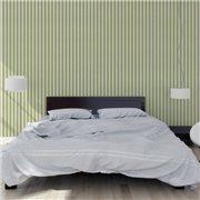 Papier peint - Au fil des Couleurs - AFDC Oxford Stripe - Rose / Vert