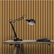 Papier peint - Au fil des Couleurs - AFDC Oxford Stripe - Rouge / Jaune