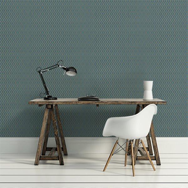 papier peint petits motifs bleu afdc frette au fil des couleurs au fil des couleurs. Black Bedroom Furniture Sets. Home Design Ideas
