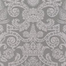 Papier peint - Thibaut - Harvard Damask - Silver Grey