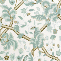 Papier peint - Thibaut - Denmark - Aqua on Cream