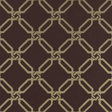 Papier peint - Thibaut - Links - Brown