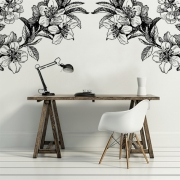 Décor mural - Rebel Walls - Springtime double - Black & White