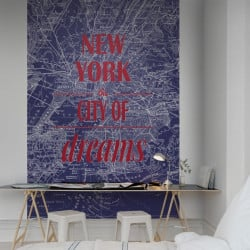 Décor mural - Rebel Walls - Map of Dreams - Blue