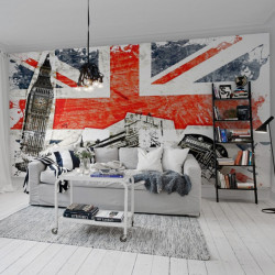 Décor mural - Rebel Walls - Union Jack - Rouge & bleu & noir