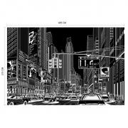 Décor mural - Rebel Walls - Cartoon City  - Black