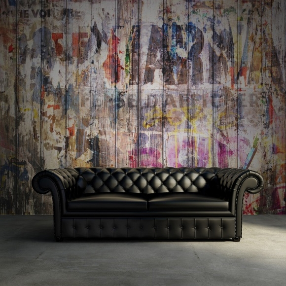 d coration murale graffitis sur planches de bois rebel walls au fil des couleurs. Black Bedroom Furniture Sets. Home Design Ideas