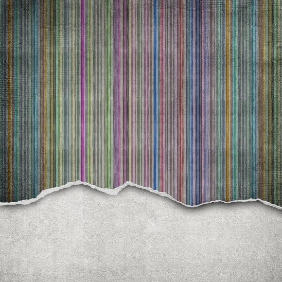 Décor mural - Rebel Walls - Worn Wall - Multi Stripe