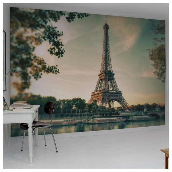 poster g ant mural paris tour eiffel rebel walls au fil des couleurs. Black Bedroom Furniture Sets. Home Design Ideas