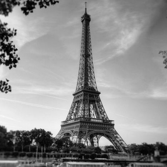 poster xxl paris tour eiffel version noir et blanc rebel. Black Bedroom Furniture Sets. Home Design Ideas