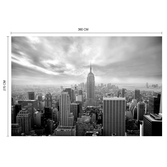 poster xxl empire state building noir et blanc rebel walls au fil des couleurs. Black Bedroom Furniture Sets. Home Design Ideas