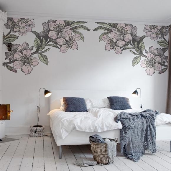 Papier peint couleur motifs fleurs 360x270 rebel walls au fil des couleurs - Trendy slaapkamer ...