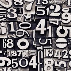 Décor mural - Rebel Walls - Sum of Numbers - 5 lés