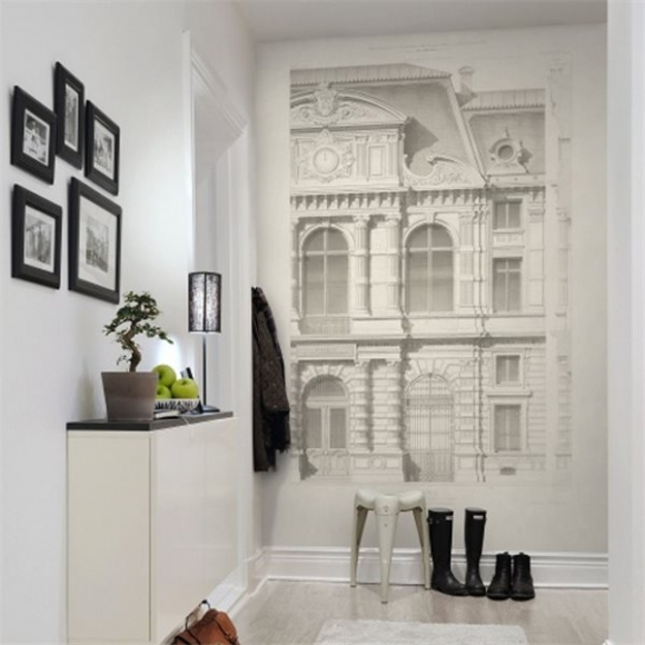 panneau d coratif fa ade vintage mairie de paris rebel walls au fil des couleurs. Black Bedroom Furniture Sets. Home Design Ideas