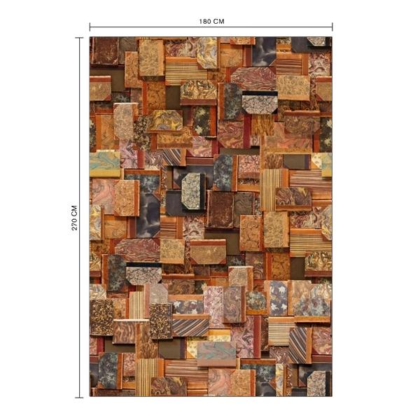 Papier peint trompe l il couvertures de livres anciens - Panneau mural trompe l oeil ...