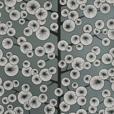Papier peint - MissPrint - Cotton Tree - Gunmetal