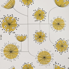 Papier peint - MissPrint - Dandelion Mobile - Porcelain with yellow