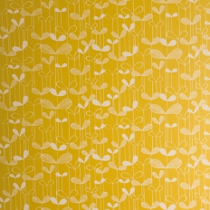 Papier peint - MissPrint - Saplings - Sunflower yellow with white