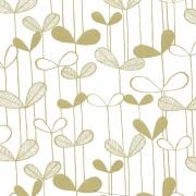 Papier peint - MissPrint - Saplings - White with gold