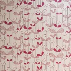 Papier peint - MissPrint - Saplings - Cream with pink