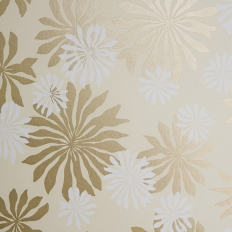Papier peint - MissPrint - Fleur - Cream with gold