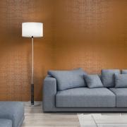 Papier peint - MissPrint - Muscat Small - Orange with gold
